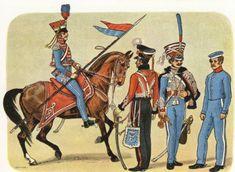 Gardehusar anno 1808 ( 5 år før Napolionskrigen. 1813 ) Gardehusarregimentet blev grundlagt 1762.