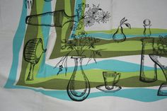 Mid Century Danish Modern Atomic Print Tablecloth   by randomretro, $62.00