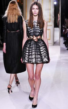 That belt!! and the graphics in the dress! LOVE! Giambattista Valli Haute Couture Spring 2013