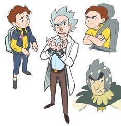 Rick and Morty #fanart [by dizzyclown]