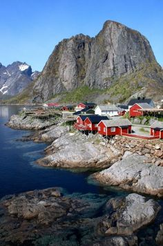 This is Stamsund, a little fishing village in the Lofoten Islands. It holds a special place in my heart. I looked after these fishermen's cabins for 8 months, in that time being lucky enough to witness the Midnight Sun, the Northern Lights, my first snow storm, and a period of 24-hour darkness. What a place. This photo was taken in 2012, in Norway.