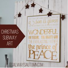 #Christmas Subway Art #Printable by It's Always Autumn, featured @printabledecor1