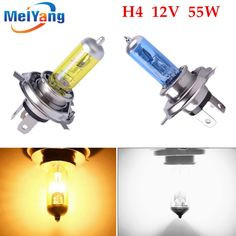 BUY now 4 XMAS n NY. h4 55w lamp 6000k/3000k 12v White / Yellow fog lights halogen bulb car headlight daytime running lights * Find similar lovely pieces on  AliExpress.com. Just click the VISIT button.