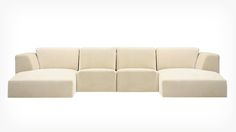 Morten 4-Piece Sectional Sofa with Chaise - Fabric   EQ3 Modern Furniture