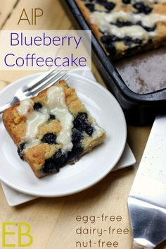 AIP Lemon Blueberry Coffeecake {egg-free, dairy-free, nut-free} - Eat Beautiful