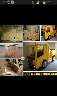 DIY Projects for Kids – The Owner-Builder Network Truck Bedroom, Kids Room Accessories, Kids Backyard Playground, Bed Plans, Baby Boy Rooms, Cool Beds, How To Make Bed, Cool Rooms, Kid Beds