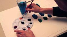 Blå nuancer - Britta Johanson viser, hvordan man blander forskellige blå nuancer