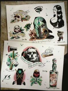 Type O Negative halloween tattoo flash limited to 20 by sararayart