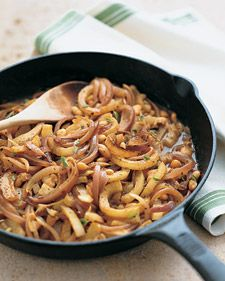 Braised Fennel and White Beans:  For added flavor, prepare this dish in the same saute pan in which the pork was cooked