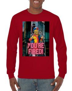 You're Fired Clown  Unisex Longsleeve T-shirt - Black / 3XL