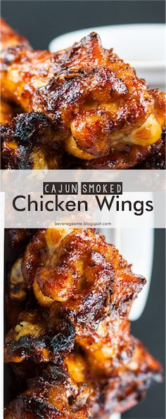 Cajun Smoked Chicken Wings | Beverages me Chicken Recipes For Two, Grilled Chicken Recipes, Spicy Recipes, Cooking Recipes, Smoker Recipes, Smoked Chicken Wings, Smoked Wings, Breakfast Crockpot Recipes, Mexican Breakfast