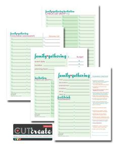 Family gathering/reunion planner free download