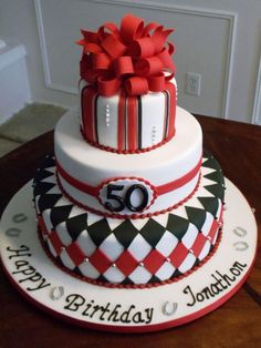 34 Unique 50th Birthday Cake Ideas with Images Birthday cakes