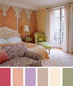 Uma paleta de cores vibrante