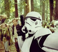 """the-power-of-the-dark-side: """" Just captured Han Solo and Princess Leia! #selfie #endor """""""