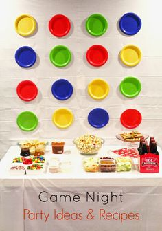 Game night party ideas & recipes. Plan a fun night of games with these tips! #gamenight Adult Game Night Party, Couples Game Night, Game Night Parties, Games For Ladies Night, Game Night Food, Night Snacks, Preteen Birthday Parties, Game Night Decorations, Board Game Themes