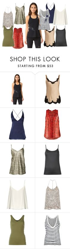 """Tanks collection"" by gadinarmada-1 ❤ liked on Polyvore featuring Lucas Hugh, Helmut Lang, Dion Lee, Poupette St Barth, Vince, Astraet, Raey, Raquel Allegra, Alexander Wang and T By Alexander Wang"