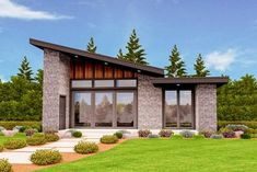 Exclusive Tiny Modern House Plan with Alternate Exteriors - 85137MS thumb - 01