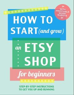 WieM How to set up shop on Etsy - a guide for beginners that takes you through the process of starting a shop, step-by-step.