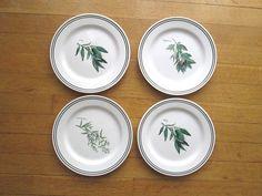 4 Williams Sonoma Herb Salad Plates