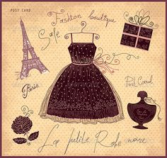 French Fashion  #GraphicRiver         Vector hand drawn vintage illustration with symbols of french fashion     Created: 1February13 GraphicsFilesIncluded: VectorEPS Layered: No MinimumAdobeCSVersion: CS Tags: artwork #background #beauty #boutique #card #collection #decorative #design #drawing #dress #elegant #element #fashion #female #flower #france #french #glamour #illustration #littleblackdress #paris #postcard #romantic #style #symbol #travel #valentine& #x27;sday #vector #vintage…