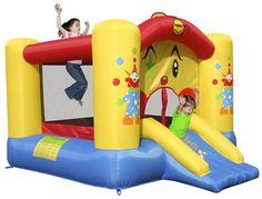 Happy Hop château gonflable Clown et toboggan - Détail de l'article 169€ avec gonfleur: L 300 x Lg 225 x H 175 cm
