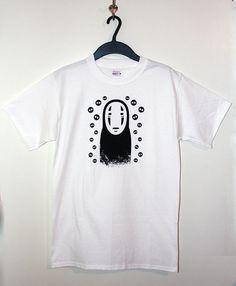 Men/'s No face free hugs spirited away Studio Ghibli anime T shirt