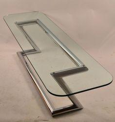 Tubular Chrome Base Plate Glass top Cocktail Table image 2