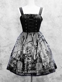 Moi Meme Moitie Sleeping Garden Lace Up JSK « Lace Market: Lolita Fashion Sales and Auctions