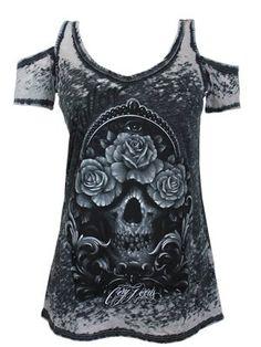 Sullen Cory Norris Burnout Ladies T-Shirt