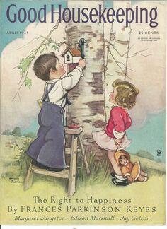 GOOD HOUSEKEEPING (ORIGINAL, COVER ONLY) APRIL 1935 VERNON THOMAS
