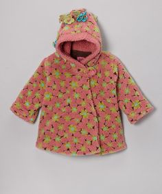 Love this Corky & Company Pink Lola Flower Wrap Swing Coat - Infant, Toddler & Girls by Corky & Company on #zulily! #zulilyfinds