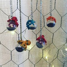 Sea creatures from outer space ! Seriously detailed necklace sculptures made by The Slug & the Kraken. More info available in upcoming video.