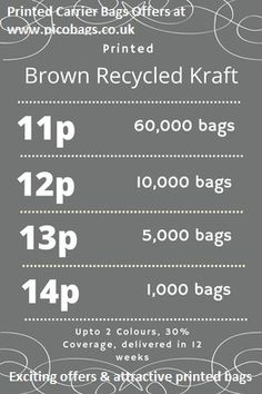 Select an ‪#‎attractive‬ ‪#‎offer‬ at ‪#‎printed‬ ‪#‎Brown‬ ‪#‎kraft‬ ‪#‎carrier‬ ‪#‎bags‬ . Get your ‪#‎printedbag‬ starting from only at 11 paisa & buy online now. Very cheap rate available here then ‪#‎Ebay‬ & ‪#‎Amazon‬ Here I attached the #Offer image