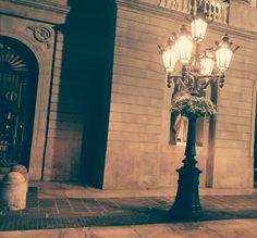 Strax utanför hotellet vid bodde på i Barcelona.