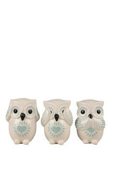 No evil owls set of 3 Pinned by www.myowlbarn.com
