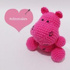Hot pink hippo #adorable #amigurumi #craft #crochet #crocheter #hippo…