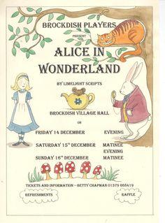 Alice in Wonderland Poster by Charlie Meyer http://www.charlottemeyer.moonfruit.co.uk/