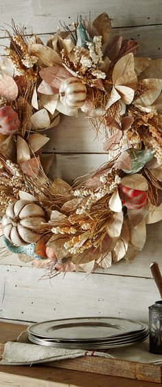 Harvest Fall Wreath #fall #decor