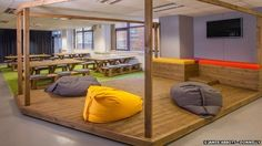 Leeds-based Duke Studios has an outdoors feel to its interior. The co-working space was founded by a photographer and interior designer who disliked other office spaces offered in the city. Inspired by Google and Pixar, they created their dream office las