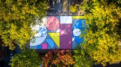 A painted basketball court in Aalst, Belgium. © artist: Katrien Vanderlinden (Wonderwalls), instagram: @wonderwalls.be - website: www.wonderwalls.be - droneshot by: Steven De Ridder #hypcourts #basketcourt #streetart #design #wonderwalls #aalst #drone #painting #playground #creativeart #streetartbelgium #mural #creative #art #handmade #courts #basketball #design #claimyourcourt #nevernotballin #aalst #belgium