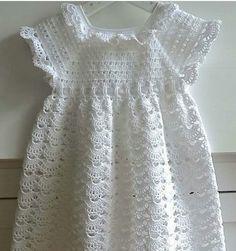 Instagram. PICTURE ONLY for inspiration. Crochet girl's dress.