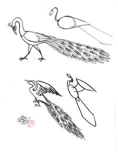 How to Draw a Peacock 3 by *Diana-Huang on deviantART