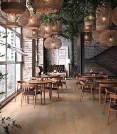 Płytki Porcelanosa - nowości hiszpańskiej marki w Internity Home Cafe Shop Design, Coffee Shop Interior Design, Restaurant Interior Design, Home Interior, House Design, Coffee Cafe Interior, Decoration Inspiration, Interior Design Inspiration, Deco Restaurant