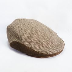 Tweed/Velvet Flat Cap Brown and Beige mens hat by moaningminnie, $49.50