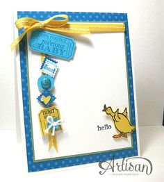 Stampin' Up! Artisan Design Team  Hello, baby!   by Cindy Beach stampspaperandink.typepad.com