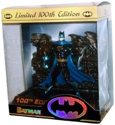 Hasbro Year 1996 Batman Limited 100th Edition Series 5 Inch Collector Tall Action Figure - BATMAN with Batarang and Diorama Display Base by Hasbro, http://www.amazon.com/dp/B004X7UU56/ref=cm_sw_r_pi_dp_7nmQrb1AVSDBQ