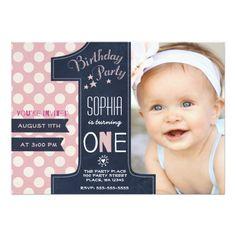 First birthday invitations 1st birthday cards tiny prints first birthday party invitation girl chalkboard filmwisefo
