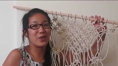 Macrame curtain | Testing Pinterest DIY Pins!