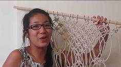 Macrame curtain   Testing Pinterest DIY Pins!